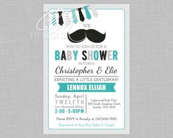 Mustache Baby Shower Invite