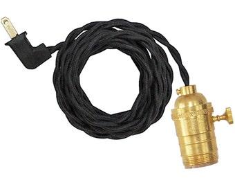 TURK-KNOB  LAMP w/ unfinished-brass socket