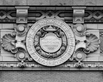 Andrew Carnegie motto, CMU, Pittsburgh, Pennsylvania. Carnegie Mellon University