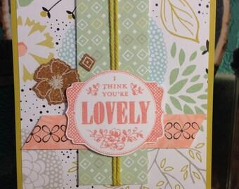 Handmade Lovely Floral Card