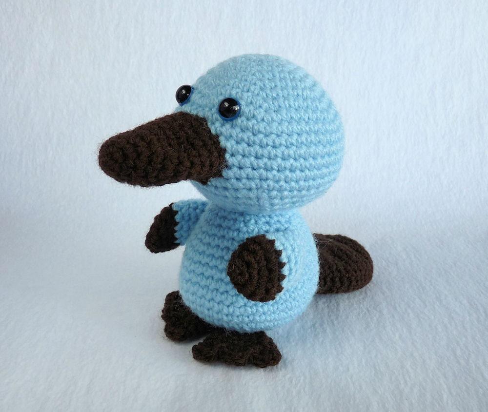 Crochet Platypus Australian Animal Toy Amigurumi by ...
