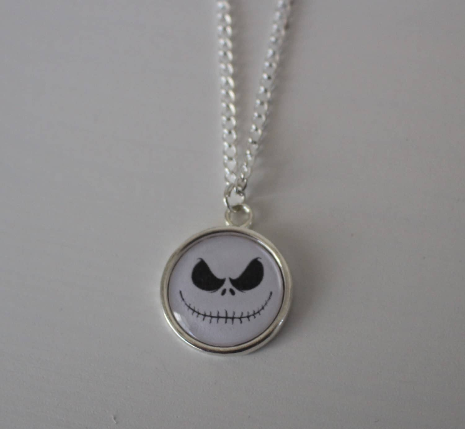 Jack Face Necklace by DustyPixieDesigns on Etsy