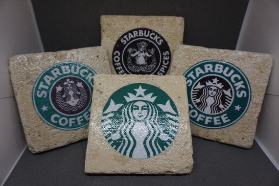 items similar to starbucks 1971present logo coasters on