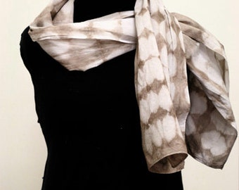 Bengala dyed Cotton Shibori Scarf