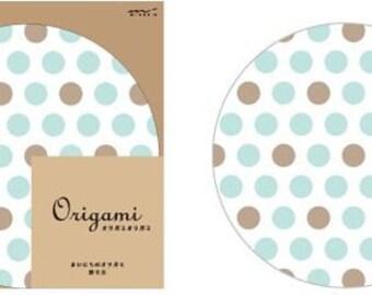Mizutama Blue Round Die-Cut Origami Papers