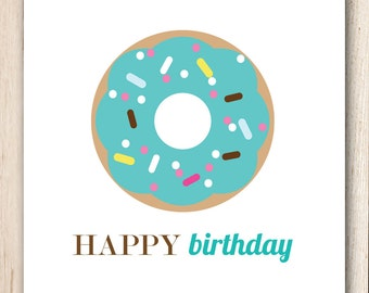 Birthday Card {donut}