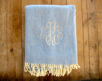 Monogrammed Throw Blanket