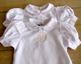 Monogrammed Baby Girl Day Gown