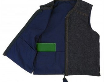 Signature Denim Weighted Vest for Children with Special Needs/Proprioceptive Therapy for SPD
