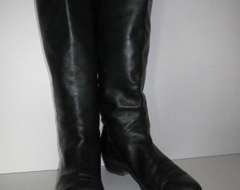Vintage boots Brunella dark green leather Gr. 38