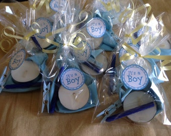 Baby shower favors - a set of 10 for a boy