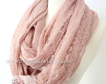 lace infinity scarf, loop scarf, circle scarf, women scarf, lacey scarf, large scarf, infinity loop scarf, animal print scarf, gift