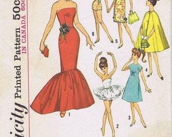 Vintage Simplicity Barbie Doll pattern PDF