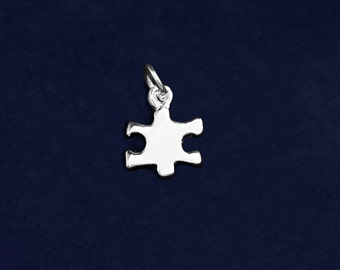 Small Autism Puzzle Piece Charm (RETAIL) (RE-CHARM-43-2)