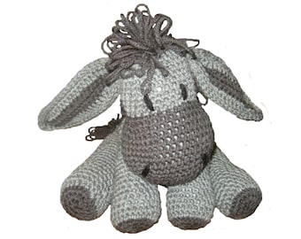 Stuffed Donkey Crochet Toy