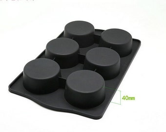 6-cavity Round Cylinder Mold Cake Mold Mould Soap Mold Silicone Mold Flexible Mold