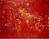 Acrylic Painting Abstract Art Original CONTEMPORARY ART TEXTURED Red Orange Yellow Large Abstract Landscape Canvas Art 32x24 80cmx60cmx1,8cm