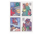 12 Unused Postage Stamps - 1995 32c Family Christmas - Item No. 3108a