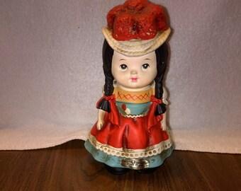 Vintage World Friendship Doll Bank - France