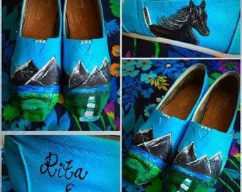 Custom made Mountain/Horse Toms. Designed and personalized just for you!