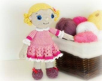 PATTERN - Emma doll (crochet, amigurumi) - in English