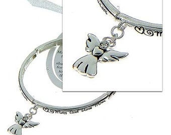 INSPIRATIONAL Mom's Blessing  Bracelet-with Angel Charm