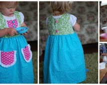 Design Your Own Dress!... Cheery Spring/Summer Dress ~ Made with fabrics you choose! {Sizes 6-12mos, 1T, 2T, 3T, 4, 5, 6, 7, 8, 10, and 12.}