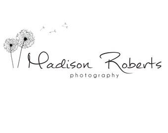Premade Logo Design & Photography Watermark - Logo Template - Dandelion Logo - Watermark Design - Premade Photography Logo - Flower Logo 486
