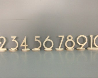 Table Number \ 1 to 20 set \  Not Painted, Painted or Gold Glitter