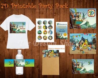 Disney 7D inspired Printable Party Pack - Digital Download - Please Read Description