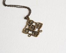 Vintage Bronze Modernist Necklace - Pentti Sarpaneva 1970s
