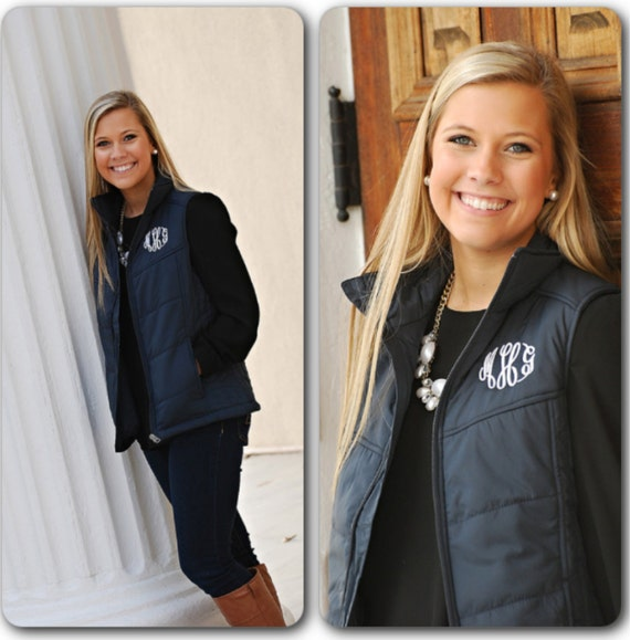 Monogrammed Puffy Vest Quilted Monogrammed Vest : monogram quilted vest - Adamdwight.com
