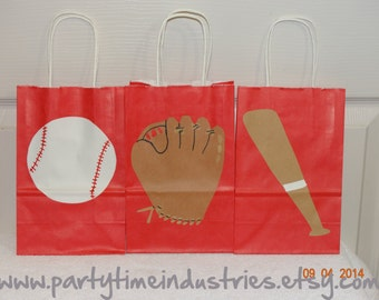 20 Baseball Favor/Candy/Goodie Bags