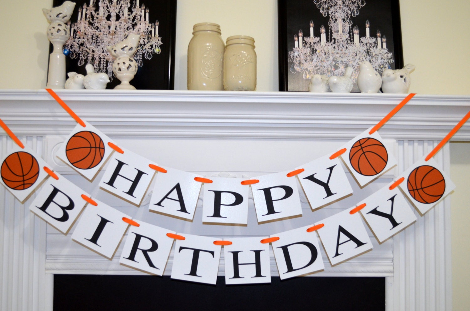 Happy Birthday Basketball Banner Basketball Birthday Banner