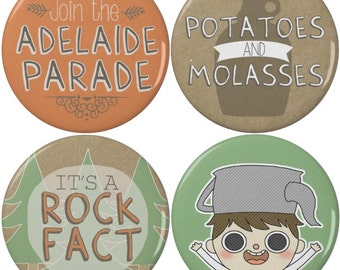 Over the Garden Wall Greg Pinback Buttons or Magnets (4 Pack)