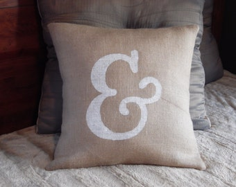 Ampersand pillow etsy for Ampersand decoration etsy