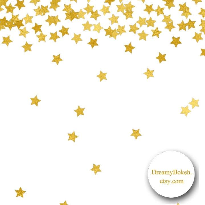 gold foil stars confetti digital paper frames borders 12x12