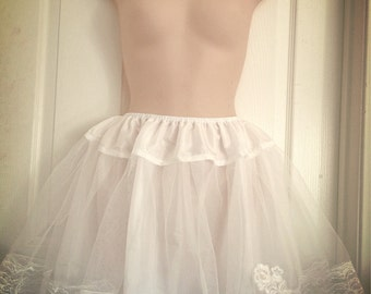"16"" Two Layers White Lolita Princess petticoat Slip"