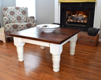 Items Similar To Unique Pine Redwood Coffee Table Western Style Lodge Pole Legs Solid Pine