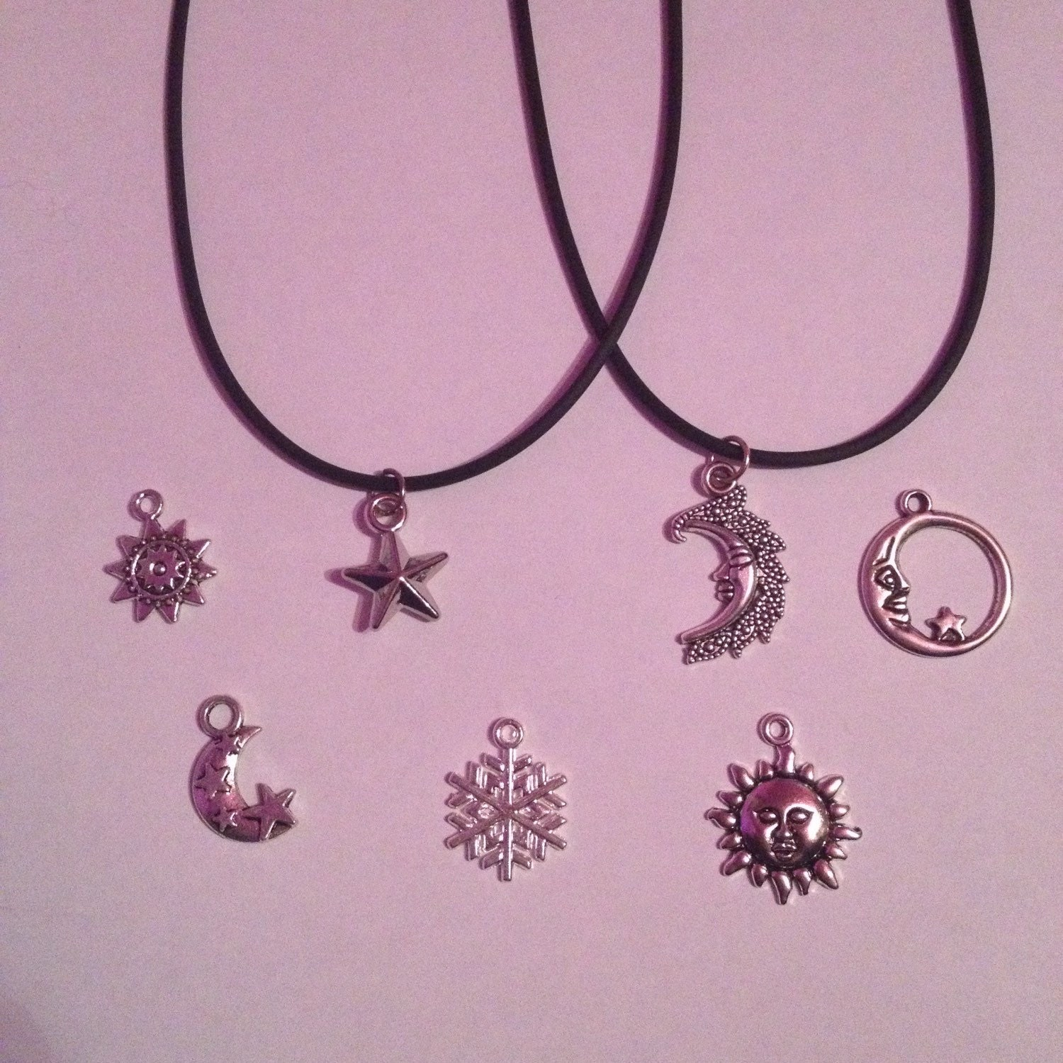 Moon Sun and Star Choker Necklaces