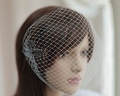 Bandeau Birdcage Veil,Bridal mini veil ---mini tulle veil----v239