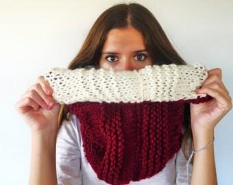 Popular items for cuello de punto on etsy - Como hacer una bufanda de lana gorda ...