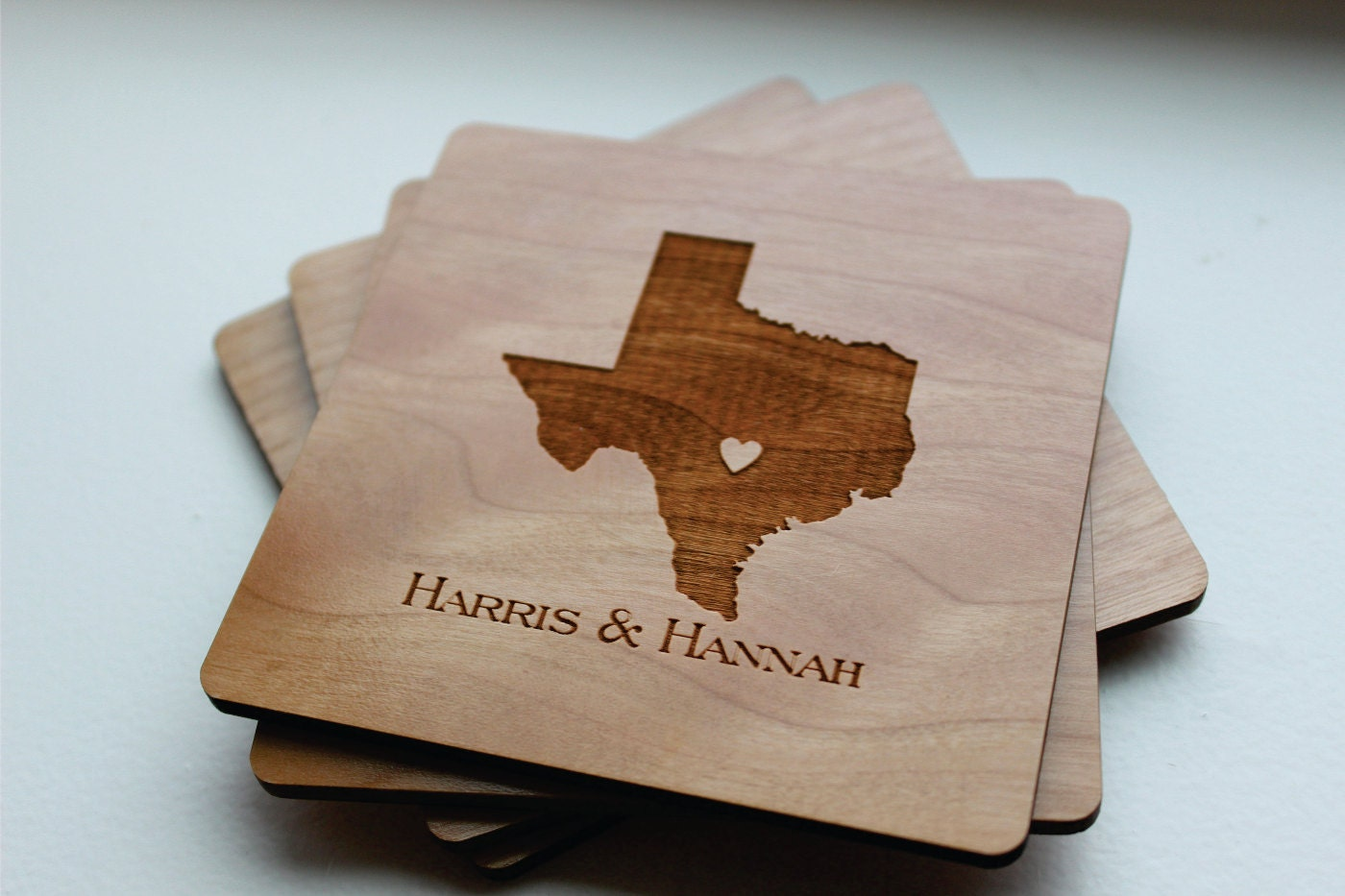 Wood Coasters Personalized Coaster Set Gift For Him Husband