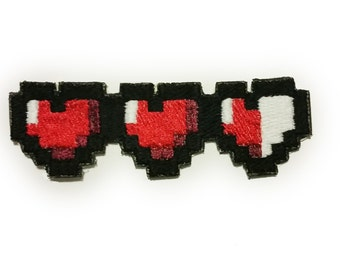 Video Game Life Heart Patches