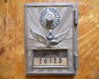 Brass Mailbox Front, Small Sized