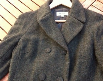 HOSS coat a green wool