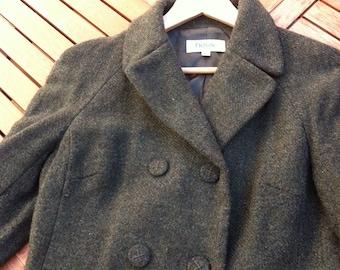 HOSS coat a green wool