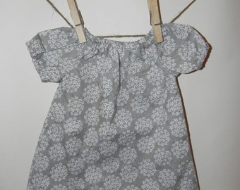 Phesant dress with matching diaper cover