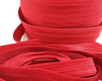 5/8 Scarlet fold over elastic, FOE for diy hair ties, Wholesale elastic, headband elastic, elastic by the yard