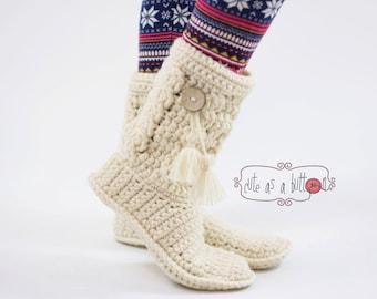 Cute as a button Crochet Boots *US CROCHET PATTERN*